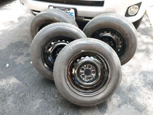 4 -14inch steel rims good for snow tires ( 5x100 bolt)