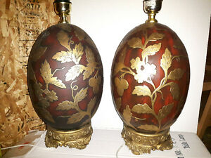 2 new pottery lamp