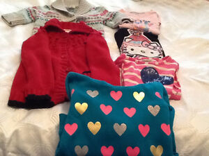 Girls size 5 tops