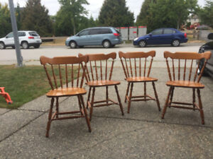 SOLID MAPLE CHAIRS AND TABLE