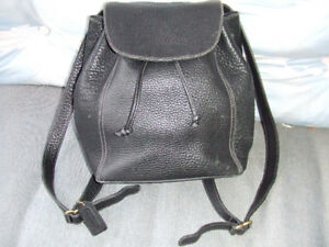 Backpack by Coach Genuine Pebbled Leather Made in Italy