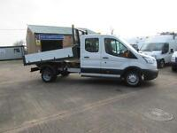 15 Ford Transit 350 27,000 Miles 125PS Double Crew Cab Drop Side Tipper