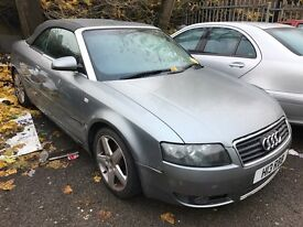 04 PLATE AUDI A4 1.8T CONVERTIBLE - SPARES / REPAIRS