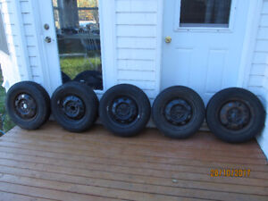 Winter Tires 3 Sets of 4 on 4X100 Bolt Pattern Rims for Accent &
