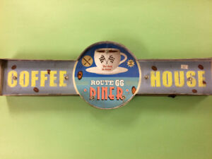 """""""Coffee House - Route 66 Diner"""" Metal Sign"""