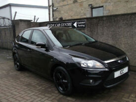 2010 FORD FOCUS 1.8 16V ZETEC SPORT 5DR BLACK ALLOYS SPORTS SEATS AIRCON LOW MLS