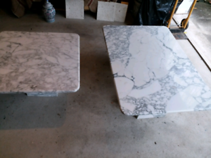 marble tables with marble stands