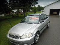 2000 Honda Civic à vendre 650$ négo