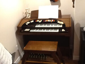 Electronic organ with multiple sounds
