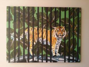 Tiger Hunting Painting