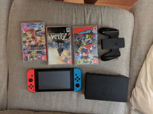 Nintendo switch W games, barely used