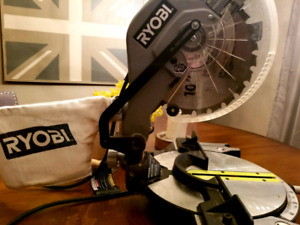 Ryobi 10in miter saw with laser