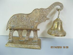 VINTAGE   ELEPHANT   STAND   WITH  BELL