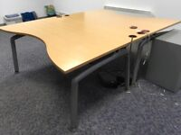 2 identical office desks for sale