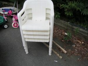 PLASTIC PATIO / DECK CHAIRS
