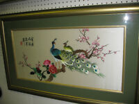 Oriental Silk Hand Made Picture -- FROM PAST TIMES Antiques
