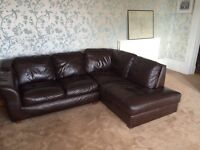 Leather Corner Group Sofa