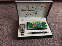 Charles Raymond New York watch and game box set new