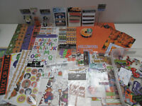 Huge 85 Piece Lot of Halloween Scrapbooking Items