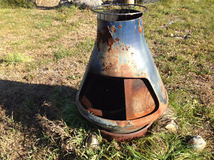 Outdoor woodstove/grill