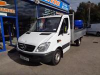 2010 MERCEDES SPRINTER 313 CDI MWB 12FT FLAT BED DROP SIDE DROPSIDE DIESEL