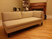 Beige day bed/ chaise lounge
