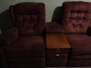 Recliner Chairs and table