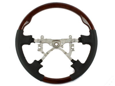 * Replacement Steering Wheel Wood Grain Leather Grip For Toyota Land Cruiser
