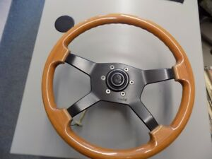 Custom MOMO Wood Steering Wheel