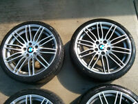 """BMW 19"""" Wheel\Tires Staggered set for 3 series- BMW Performance"""
