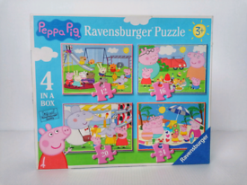 RAVENSBURGER 4 IN A BOX JIGSAW PUZZLE PEPPA PIG