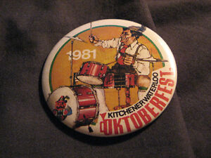 OKTOBERFEST 1981, 84& 91 KITCHENER WATERLOO VINTAGE BUTTON PINS Belleville Belleville Area image 3