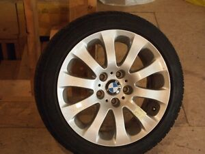 """BMW 17"""" mags and tires 225-45-17 Continental"""