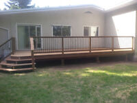 fences and decks, framing and basement finishing