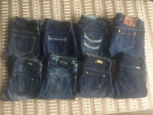DIESEL, GUESS AND MARCIANO jeans - Size 24 - ONLY $10 EACH!
