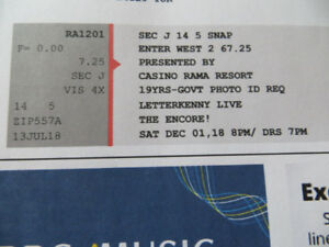 2 Center Tickets to Letterkenny Live Dec. 1 at Casino Rama