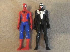 Spider-Man and Venom figures
