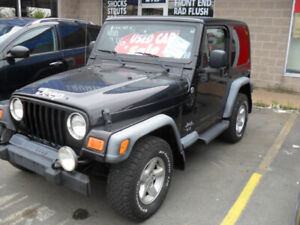 2006 JEEP T J   WRANGLER-RUST FREE -6 SPEED ON SALE $7900.
