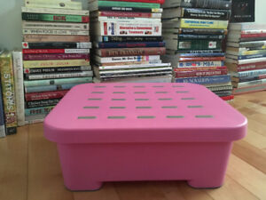 Pink Storage/Step stool