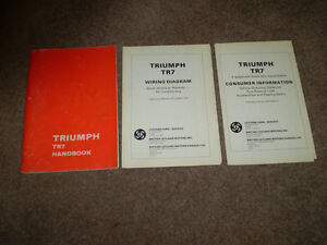 1977 Triumph TR7 OWNERS MANUAL ( All Factory Original )