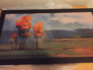 Rare fall landscape framed painting
