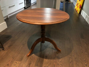 Antique Round Walnut Table