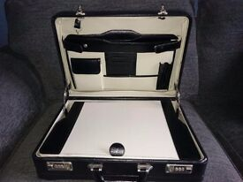 Leather attache case . As new