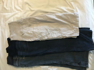 Lot de 3 pantalons 3/4 maternité large