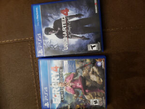 ps4 games ( far cry 4 & uncharted 4)