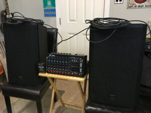 Electro-Voice ZLX-15 Speakers with Peavey XRs Mixer $1000 OBO