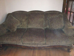 SOFA & MATCHING CHAIR & SIDE TOSS CUSHIONS