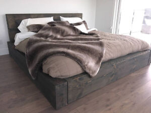 Custom King Size Timber Solid Bed