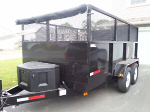 NEW 10000 POUND DUMP TRAILER 7X12 WITH 4FT SIDES PRICE $7900