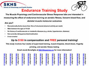 EARN $160 AND FREE PERSONAL TRAINING - STUDY PARTICIPANTS Kingston Kingston Area image 1
